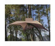 Relax 2 Chaise suspendue taupe avec ombrelle Alinea