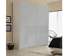 Méo Dressing 2 portes coulissantes blanches brillantes L200xH232xP60cm Alinea Beige