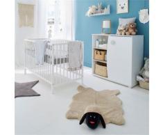 Camille Chambre Lit bébé à barreaux blanc (60x120cm) Alinea Blanc