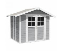 Abri de jardin Grosfillex gris clair PVC 4,9m² Gris