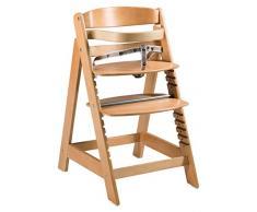 roba Chaise haute évolutive Sit Up Click, en bois, chaise haute qui suit la croissance de votre enfant, de chaise haute dévient chaise, avec une fermeture à clic innovante, naturel.