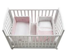 Italbaby Gemmy Pois Réducteur de lit bébé, Rose