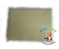 Blueberryshop Chambre denfant bébé en tissu éponge Drap-housse pour berceau, couffin et berceau, 90 cm de longueur x largeur de 40 cm, Jaune