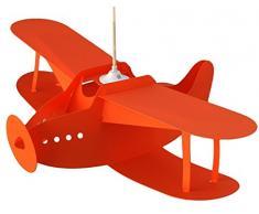 R&M Coudert Lampe de Plafond Suspension Chambre Enfant Avion Orange