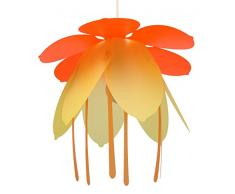 R&M Coudert Lampe de Plafond Suspension Chambre Enfant Fleur Orange et Or