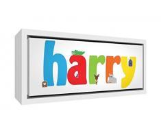 Little Helper Napperon avec Coaster Style Illustratif Coloré avec le Nom de Jeune Garçon Alexandre