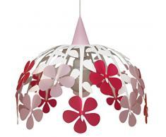 R&M Coudert Lampe de Plafond Suspension Chambre Enfant Bouquet de Fleurs Ivoire et Rose