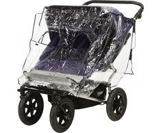 Playshoes 448962 pluie universel, habillage pluie, Housse de pluie pour poussette jumelle/Tandem Chariot avec fenêtre de contact