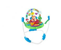 Fisher-Price Jumperoo Puppy Eveil Progressif trotteur bébé, 2 modes de jeu, sons et lumières, siège rembourré tournant à 360°, 6 mois et plus, FBL69