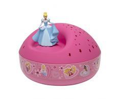 TROUSSELIER - Cendrillon - Disney Princesses - Veilleuse - Idéal Cadeau de Naissance - Projecteur dEtoiles Musical - Figurine rotative - Piles inclues