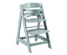 roba Chaise haute évolutive Sit Up Click, chaise haute qui suit la croissance de votre enfant, de chaise haute dévient chaise, avec une fermeture à clic innovante, gris.