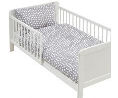 lulando m00007997 Parure de lit pour enfant Parure de lit 2 pièces Taie doreiller et housse de couette. extérieur 100% coton. Convient pour lit denfant 70 x 140 cm, multicolore