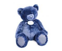 Doudou et Compagnie Ours Collection Peluche Bleu Nuit 80 cm
