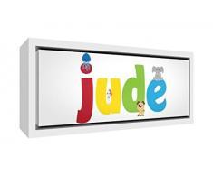 Little Helper Napperon avec Coaster Style Illustratif Coloré avec le Nom de Jeune Garçon Lorenzo