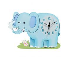 Horloge murale enfant Sunny Safari pendule bois décor chambre bébé TD-12660A
