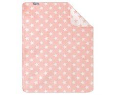 Sei Design couverture bébé - couverture peluche pour lit bébé et landau   tapis d'éveil   tapis d'activité pour la maison   Mélange de coton - très doux et facile dentretenir, 90x120 cm