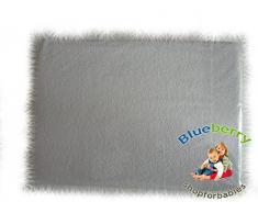 Blueberryshop Chambre denfant bébé en tissu éponge Drap-housse pour berceau, couffin et berceau, 90 cm de longueur x largeur de 40 cm, Blanc