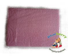 Blueberryshop Chambre denfant bébé en tissu éponge Drap-housse pour berceau, couffin et berceau, 90 cm de longueur x largeur de 40 cm, Rose