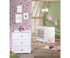 BABY PRICE Chambre Bébé Duo Lit 120 x 60 cm + Commode à Langer