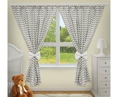 Rideaux décoratifs de luxe pour chambre de bébé assortis avec nos parures de lit de bébé (Zig zag)