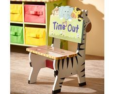 Chaise siège fauteuil banc animaux bois décor chambre enfant bébé mixte W-8270A