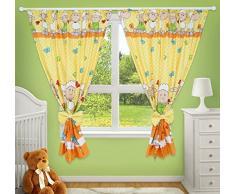 Rideaux décoratifs de qualité supérieure pour chambre de bébé - Couleur : jaune avec motifs de moutons.