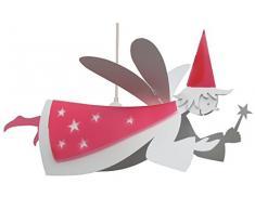 R&M Coudert Lampe de Plafond Suspension Chambre Enfant Fee Blanc et Framboise