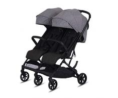 Knorr-baby 888550 Poussette double Twin-Easy-Fold Gris
