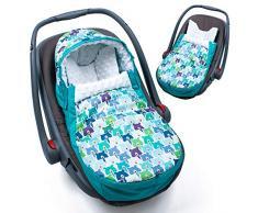 Sevira Kids - Chancelière - turbulette universelle - imperméable - pour la poussette ou siège auto - Bears - Ice