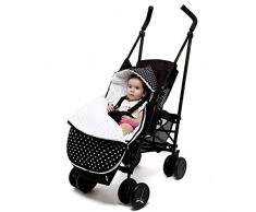 Sevira Kids - Chancelière universelle et imperméable - nid dange pour la poussette ou siège auto New York 2.0