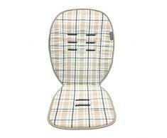 Poplico Coussin de siège réversible pour poussette Mûre/bleu