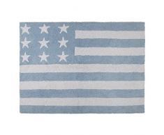Tapis pour enfant lavable en machine bleu ciel Flag américan Lorena Canals 120 x 160