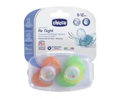 Chicco Physio Air Sucette en Silicone 2 Pièces 6-12 Mois, Couleurs Assorties