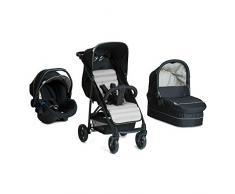 Hauck / Poussette combinée 3 en 1 / Rapid 4 Plus Trio Set / avec siège-auto compatible avec la base Isofix / nacelle / poussette sport / pliage compact / léger / de la naissance jusquà 22 kg, nois gris (caviar silver)