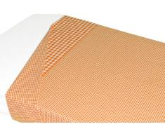 Taftan Drap de Lit Vichy orange (120 x 150 cm) - Orange