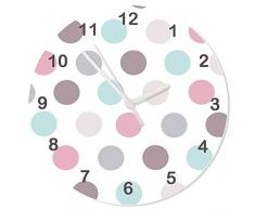 Tiger Lily Impressions Sticker mural, Pastel spot Horloge murale