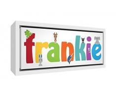 Little Helper Napperon avec Coaster Style Illustratif Coloré avec le Nom de Jeune Garçon Antoine
