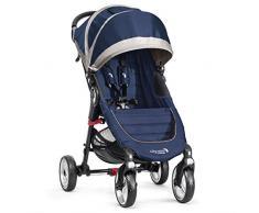 Baby Jogger Poussette City Mini 4 Chariot Traditionnel 1 siège (s) Bleu, Gris (Chariot traditionnelle, 60 mois (es), 1 siège (s), bleu, gris, plat, roues gonflables)
