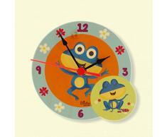 Dida - Horloge de Table en Bois Enfant – Grenouilles – Horloge Murale et de Table pour la Chambre des Enfants avec Les Animaux de la forêt