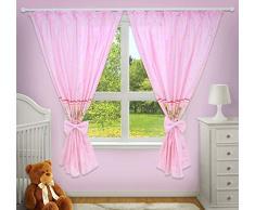 Superbes rideaux décoratifs pour chambre de bébé assortis avec nos parures de lit pour chambre denfant (rose)