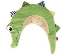 sigikid 40998, enfant fille et garçon, coussin bouillotte crocodile, vert, grand modèle