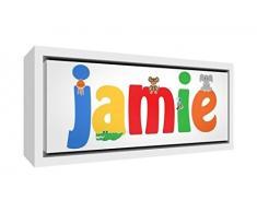 Little Helper Napperon avec Coaster Style Illustratif Coloré avec le Nom de Jeune Garçon Samuel