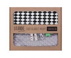 LULANDO Couverture MINKY 100 x 140cm - couette - couverture pour poussette - réversible - pour journées fraîches - 100 % coton - anti-allergique - coton respirant - certificat Oeko-Tex