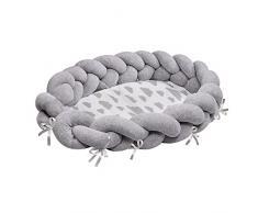 LULANDO Baby Nest cocon pour bébé/nourrisson, cocon à usage multiple, coussin pour bébé, couffin de voyage portable, anti-allergique, certificat Oeko-Tex, dimensions: 90 cm x 60 cm x 17 cm