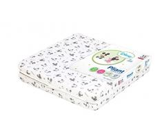 Ptit Albatros matelas pliant All over Mickey & Minnie 60x120x4, Gris/blanc