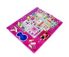 Y NB/121md015ye80103-it Tapis épais hypoallergénique de jeu en 3d pour enfants avec motif un jeu de fille à la maison 80 x 100 cm rose