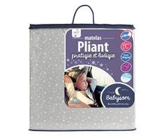 Babysom - Matelas Pliant 60x120x7cm - Idéal pour couchage dappoint - Déhoussable - Anti acarien
