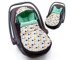 Sevira Kids - Chancelière - turbulette universelle - imperméable - pour siège auto cosy - Mojo Vert