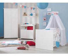 Roba Chambres denfants Emilia, Chambre complète de 2, 3 ou 4 pièces, Chambre de bébé Set Promotion dans différentes variantes disponibles, blanc