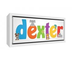 Little Helper LHV-RAPHAEL-PLACEMATANDCOASTER-15FR Napperon avec Coaster Style Illustratif Coloré avec le Nom de Jeune Garçon Raphaël